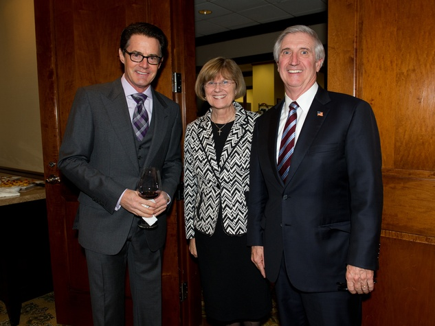 Kyle MacLachlan, from left, with Kathleene and Andy Card at the George Bush Presidential Library Foundation dinner December 2013