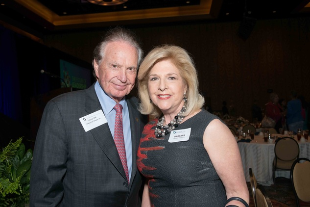 Welcome Wilson and Barbara Goldfield at the Center for Houston's Future luncheon March 2015