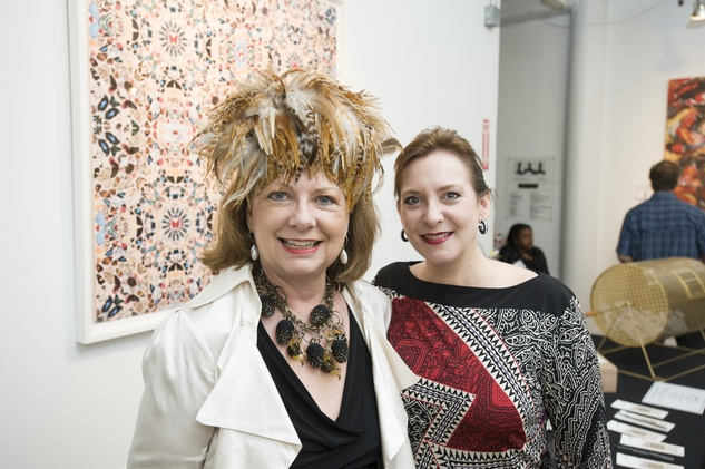 Ardis Bartle, left, and Meg Poissant at Art on the Avenue November 2013