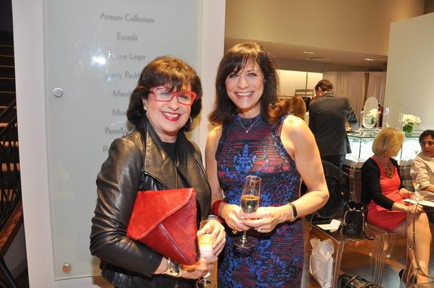 Roz Pactor, left, and Ilene Allen at the Pamella Roland runway show at Elizabeth Anthony November 2014