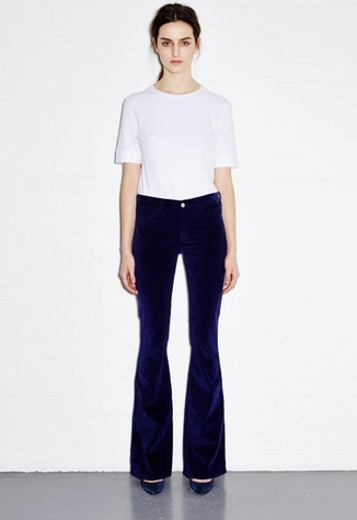 Houston, MiH Jeans, July 2015, flare jeans in navy