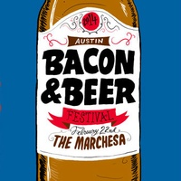 poster for the first annual Austin Bacon and Beer Festival