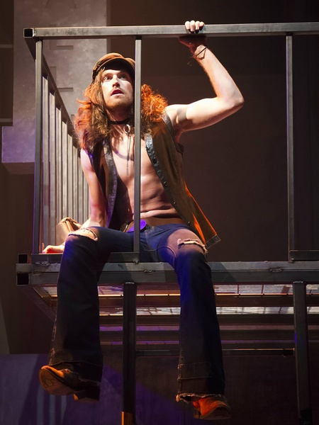 Garret Storms in HIT THE WALL at WaterTower Theatre