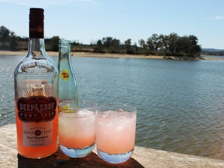 Deep Eddy Vodka Ruby Red lake Topo Chico