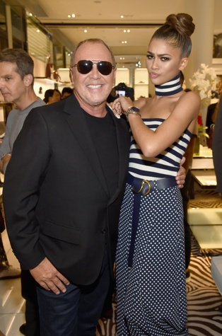 Zendaya and Michael Kors at watch launch party