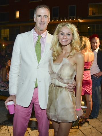 Tim Thompson, Ashley Foret at Party in Pink July 2013