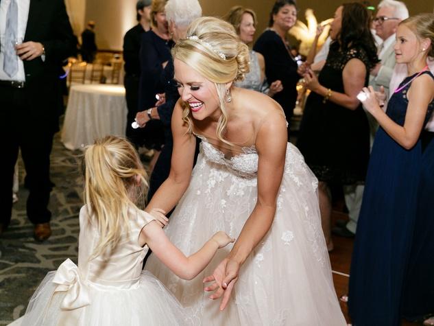 Neely wedding, flower girl