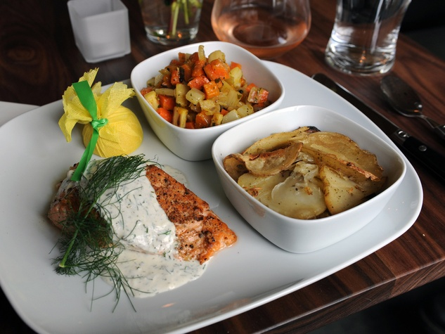 First taste at Bistro Menil September 2014 salmon