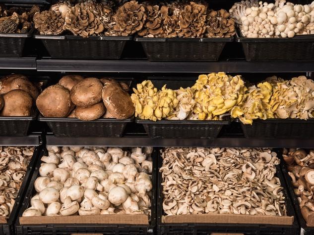 Central Market Houston mushrooms