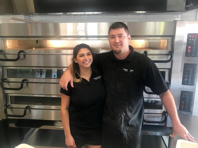 Pizaro's Pizza Nicole and Brad Bean