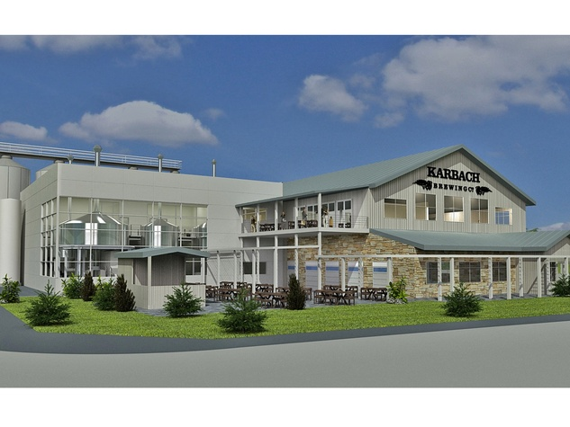 Karbach Brewing Co. rendering for new tap house December 2013 THIS WITH WHITE SPACE SO ENTIRE BUILDING IS IN PIC