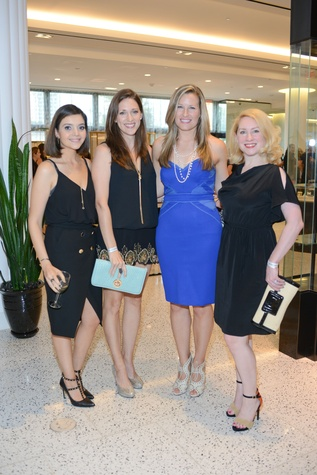 5 Layla Asgari, from left, Beth DeLozier-Hayes, Bethany Buchanan and Holly Wilkison at the WOW Summer Soiree August 2014
