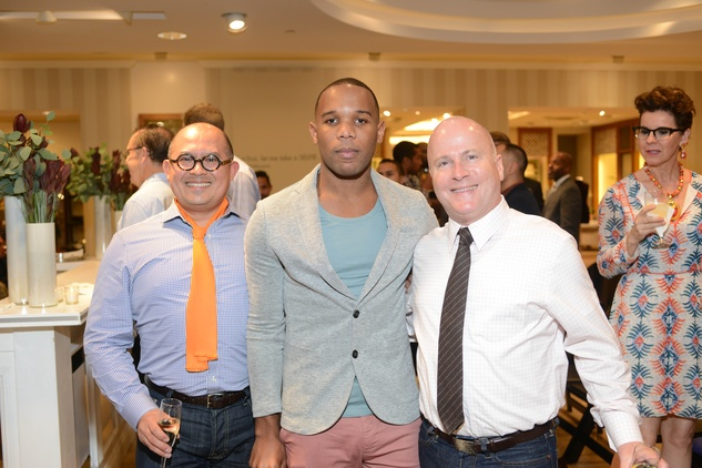 10 Leo Jaimes, from left,  Patrick Bell and Scott Boyd at the Neiman Marcus Men's Fall Trend Event September 2014