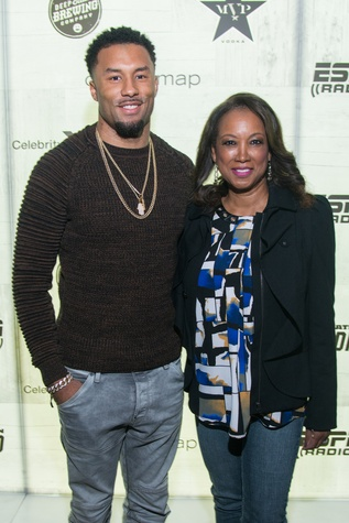 Noland Carroll and mom, Jennifer Carroll at Big Texas Party
