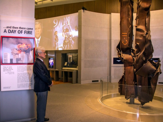 9/11 exhibit at George W. Bush Presidential Center in Dallas