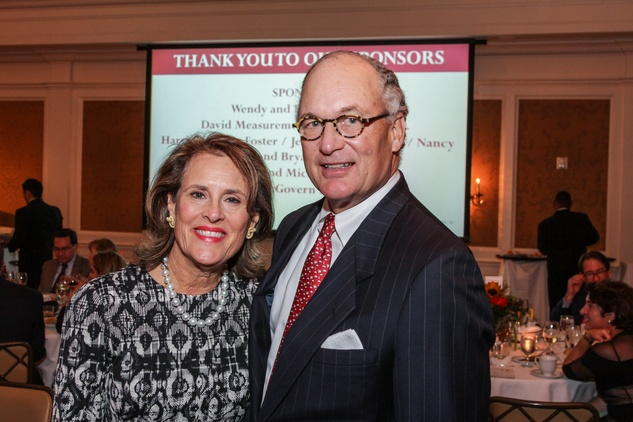 Elizabeth and Peter Wareing at the Hospice Spirit Award dinner October 2014