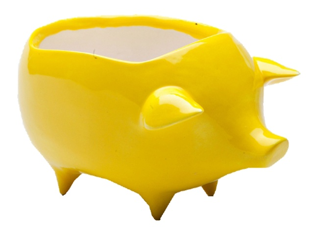 ModMade Goods, lemon yellow piggy