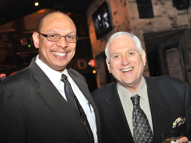 Danny Perkins, left, and Arthur Schechter at the Mayor's Hispanic Advisory Board Holiday Party December 2013