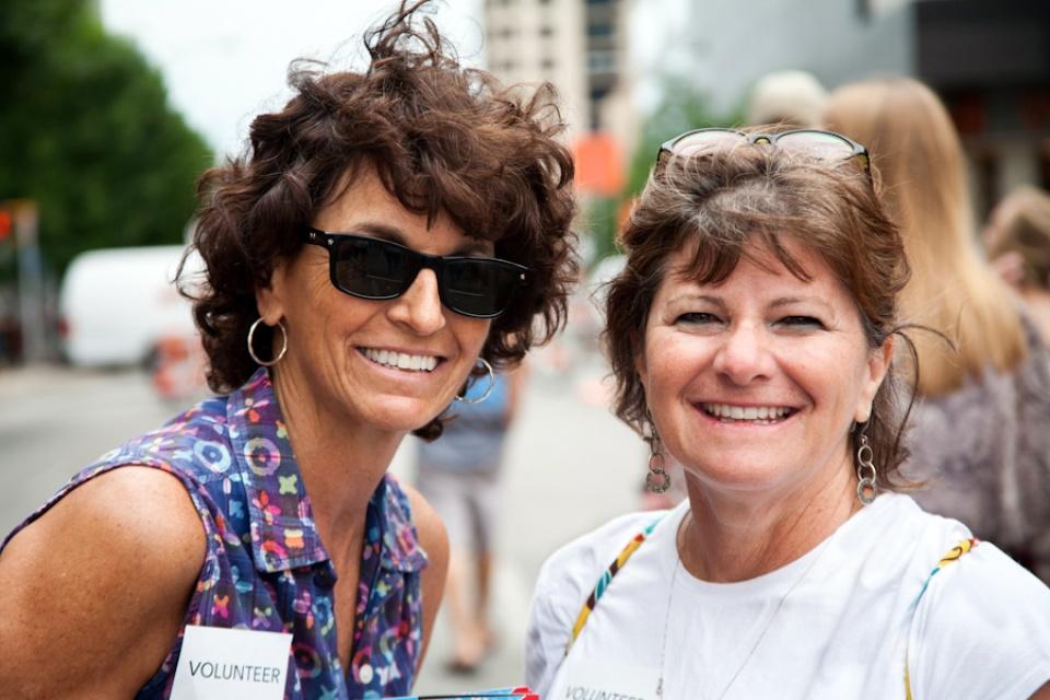 Art City Austin  volunteers Barb and Anita