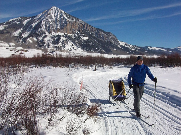 cross country skiing in Crested Butte