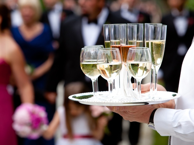 wedding server with drinks