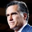 Mitt Romney, at mic