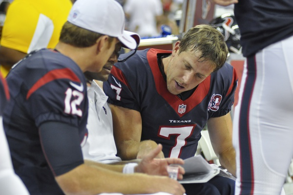Case Keenum Texans bench