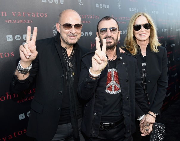 John Varvatos, Ringo Starr and Barbara Bach at International Peace Day in West Hollywood