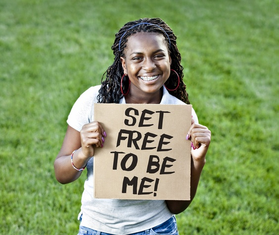 Houston, Freedom Place, January 2016, girl with sign