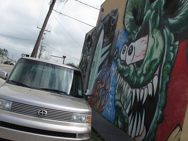 Louisiana, Southern Sting Tattoo Parlor mural truck