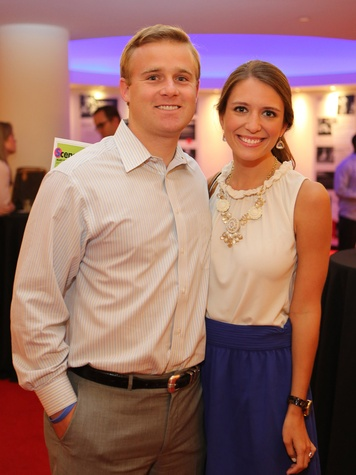 Alley Theatre Young Professionals event July 2013 Vince Strake, Hannah Mount