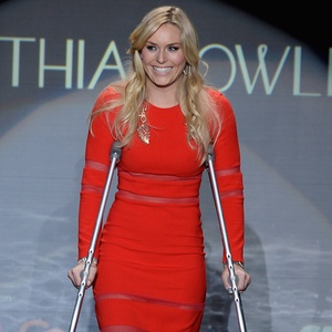 Who Needs Sochi Lindsey Vonn Lives It Up In A Sexy Red
