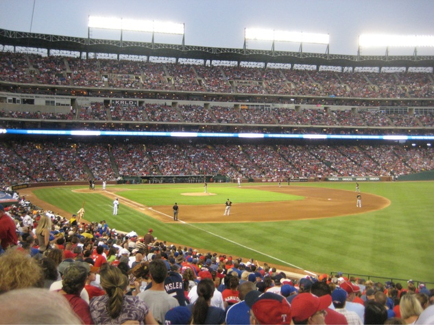 Interior of Rangers Ballpark in Arlington