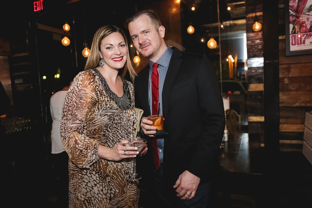 Tabitha Garcia and Erik Bechtol at the Page Parkes & Ruggles Black Holiday Soiree December 2014