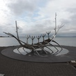 Tarra Gaines Iceland December 2014 Sun Voyager sculpture, Reykjavík