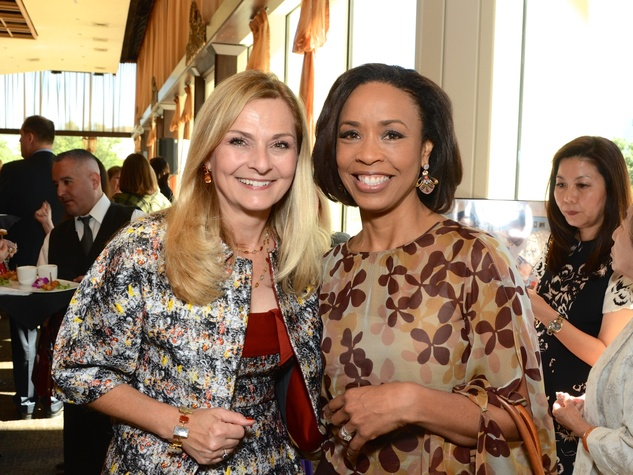 13 Kathy French, left, and Gina Gaston at the Dec My Room luncheon October 2014