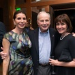 Judith Oudt, from left, Don Sanders and Laura Moore at the George Rodrigue Blue Dog dinner September 2014