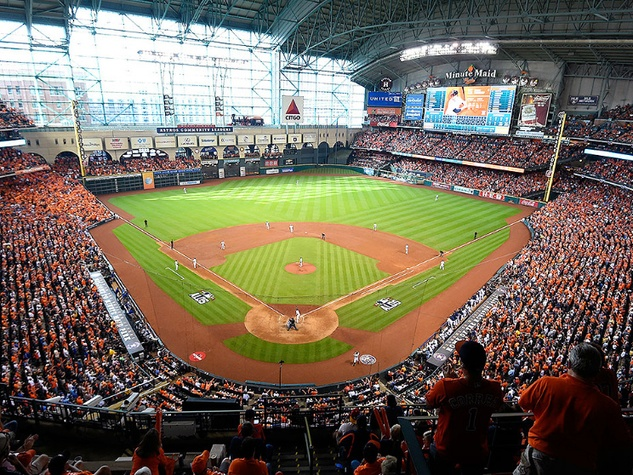 Houston, dollar hot dog night at Houston Astros, minute maid park
