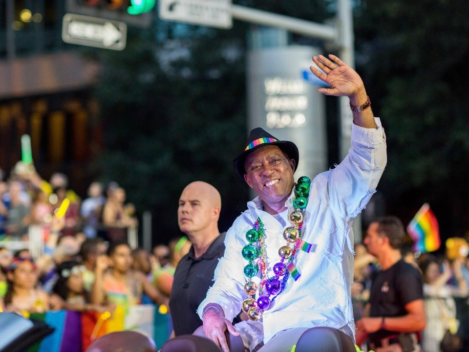 Houston Pride Parade Mayor Sylvester Turner