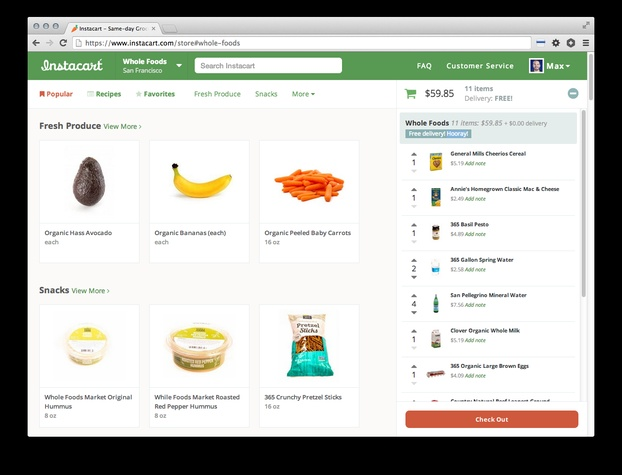 Instacart screen shot