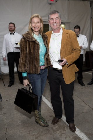 Terra and Bob Nicolay at the Memorial Park Conservancy benefit February 2015
