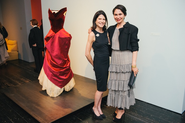 Marci Rosenberg, left, and Jennifer Segal at the Charles James exhibit preview party at the Menil June 2014
