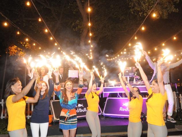 Hotel ZaZa Houston spring social April 2013 sparklers