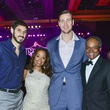 11 Omri Casspi, from left, Arvia Few, Donatas Motiejunas and Jason Few at the Memorial Hermann Gala April 2014