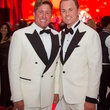 Brian Teichman, left, and Andrew Cordes at the Alley Ball April 2014