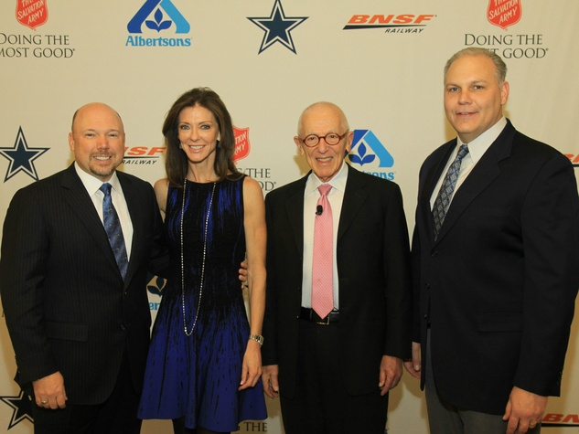 Paul Booth, Charlotte Jones Anderson, Stan Richards, and Clint Degner, DTMG Luncheon
