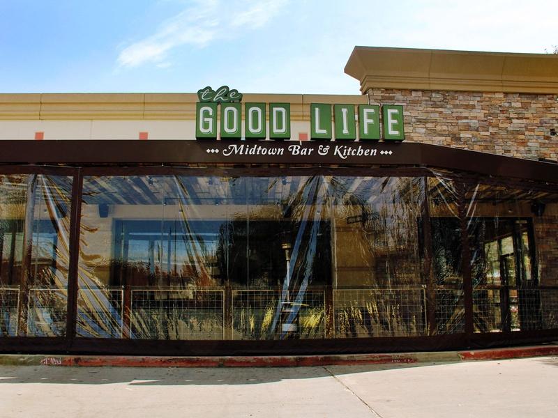 Good Life Bar & Kitchen, front, sign