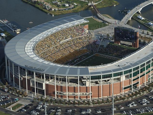 Baylor football Stadium McLane Stadium aerial