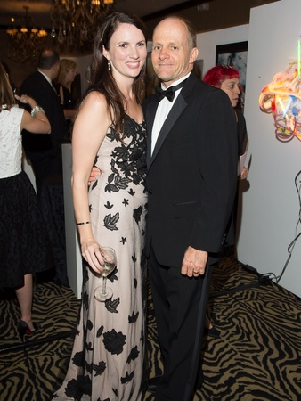 Art League Houston gala, October 2012, Cara Rudelson, Aaron Parazette