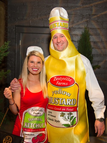 Natalie and Brad Kirklin at the St. Luke's PULSE Saints & Sinners Halloween party October 2013